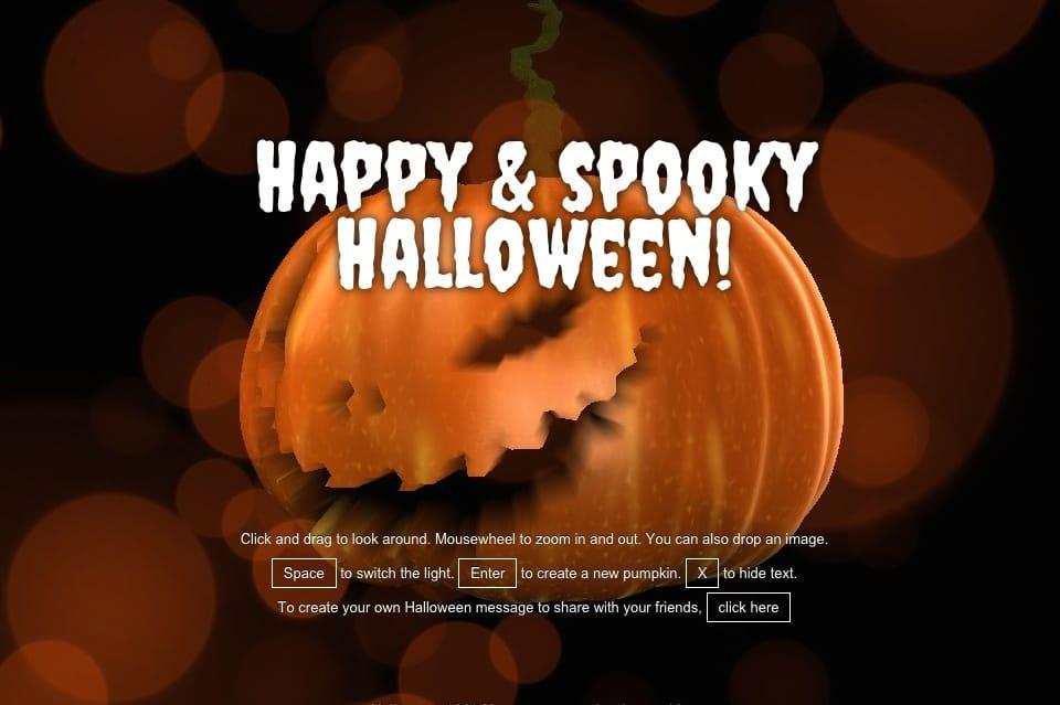 Виртуальная открытка на Хэллоуин