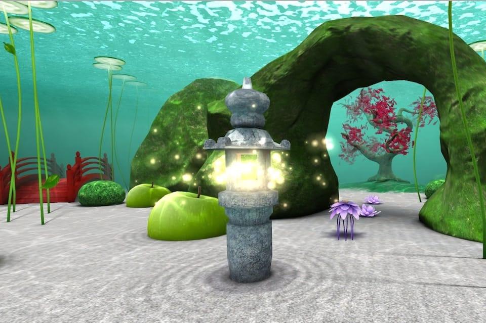 Рисованный подводный мир в 3D