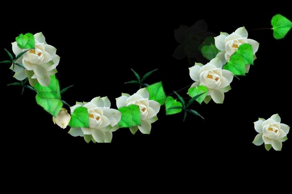 Интересное рисование цветами