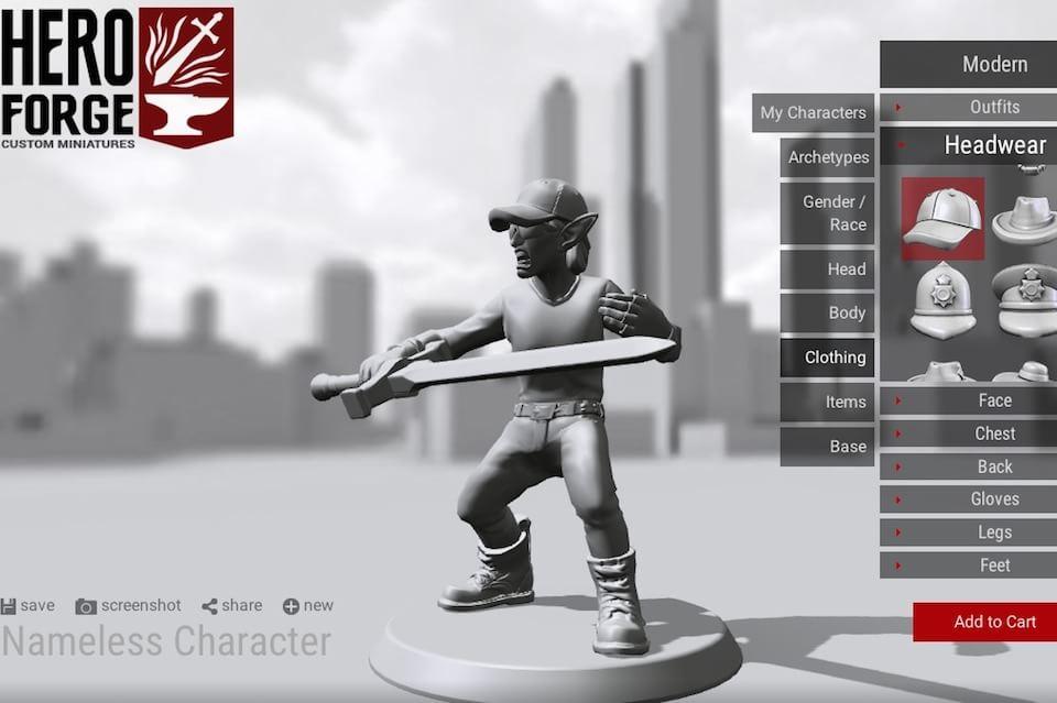 Hero Forge герой в 3D