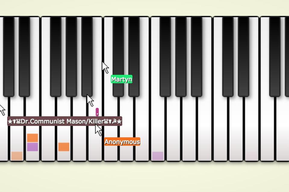 Онлайн мульти-пианино