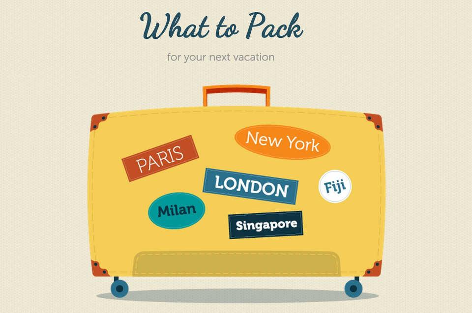 Собираем чемодан или список вещей в поездку