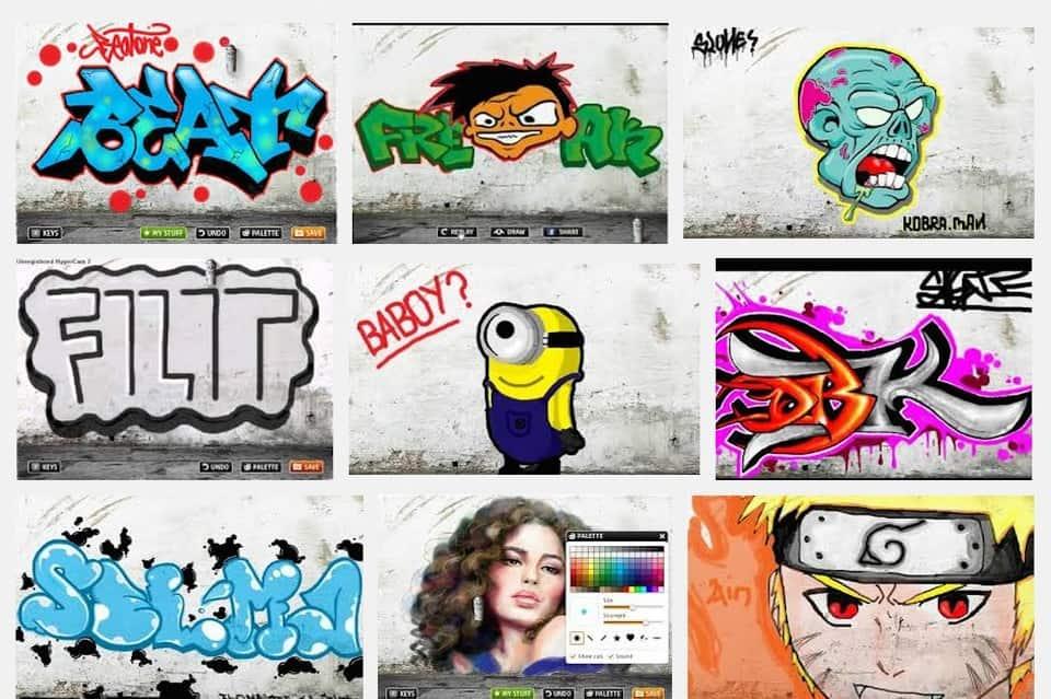 Рисовать граффити в браузере