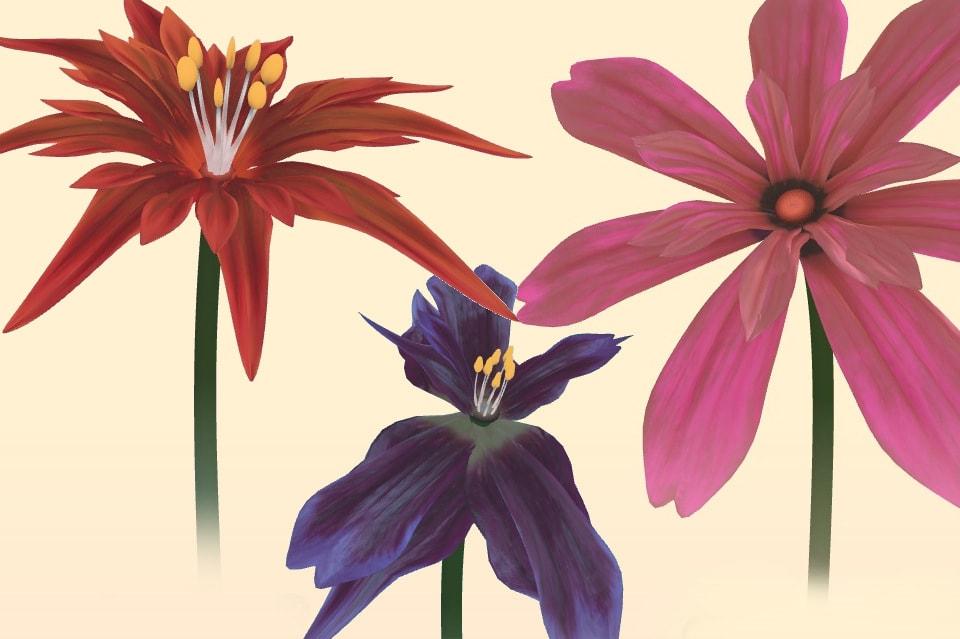 Виртуальный цветок в подарок
