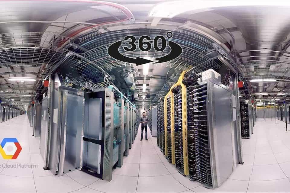Виртуальный 3D тур в дата-центр Google через YouTube 360°