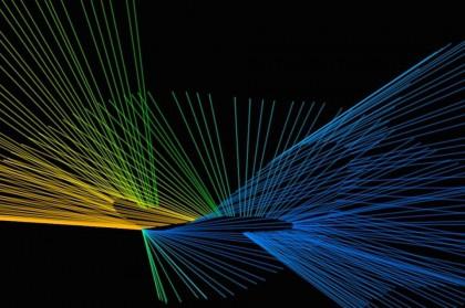 Лазерные цветные линии курсором