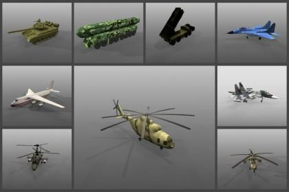 3D модели военной техники