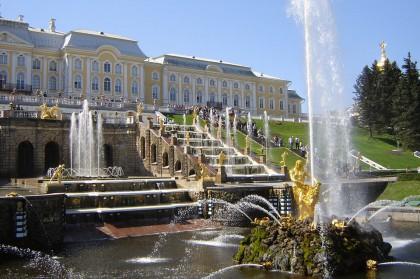 Веб-камера фонтанов Петергофа в реальном времени