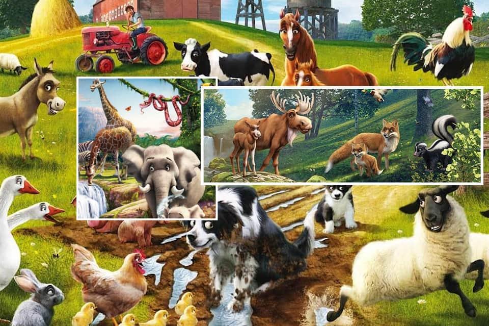 Звуки животных для детей онлайн