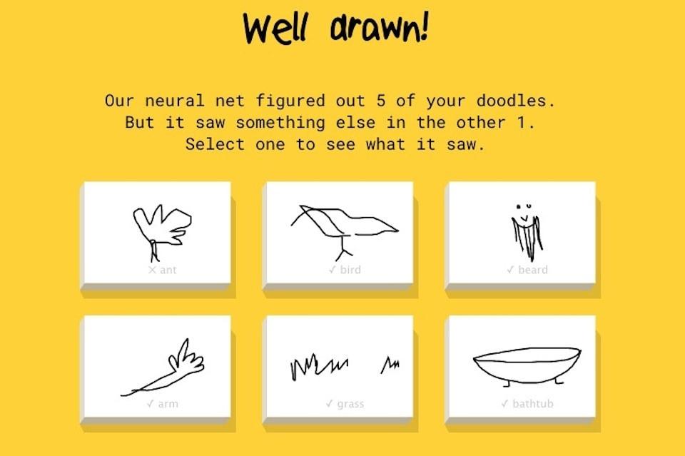Игра Quickdraw — Google угадывает рисунок