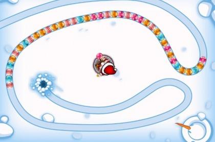Рождественская игра змейка из шариков